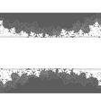 christmas card grey vector image vector image