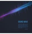 Sound wave background vector image