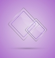 Abstract glass panel with copy space on violet vector image