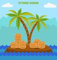 money hidden on the island in offshore zone Tax vector image