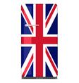 Retro fridge with UK flag vector image
