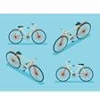Isometric Bike Icon 3d Symbol Flat Design Template vector image