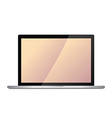 modern laptop screen vector image