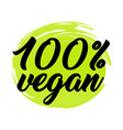 organic and vegan logo labels vector image