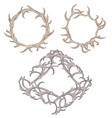 set of different frame of deer antlers vector image