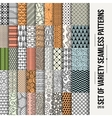 Set of seamless line patterns vector image