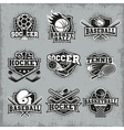 Sports And Competitions Retro Style Logos vector image