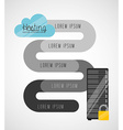 web hosting design vector image