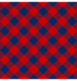 Blue red check diagonal textile seamless pattern vector image