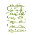 Ecology infographics sketch for yuor design vector image