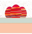 Easter egg created from colorful stripes EPS 8 vector image vector image