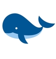 cartoon whale icon isolated on white background vector image