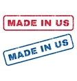 Made In Us Rubber Stamps vector image