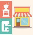 coffee shop machine maker image vector image