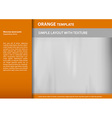 template orange s vector image vector image