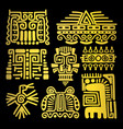 american golden ancient totems vector image