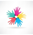 human hands abstraction icon vector image
