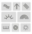 icons with symbols of Australian aboriginal art vector image
