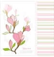 greeting card with magnolia vector image vector image