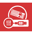 USB digital design vector image