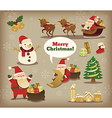 collection of christmas santa claus vector image vector image