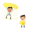 set of funny cartoon manager vector image vector image