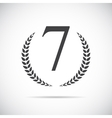Seventh Place Laurel Design Label vector image