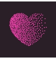 heart shape snow Black dots and confetti vector image vector image