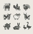 Home animal set icon vector image