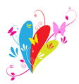 Butterfly and floral vector image