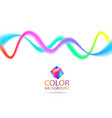 abstract color wave lines design element with vector image