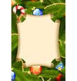 fir-tree card decoration vector image