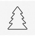 fir tree isolated on light transparent vector image
