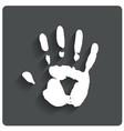 Hand print Human handprint icon vector image