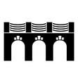 old arch bridge icon simple black style vector image