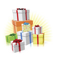 pile of presents concept vector image