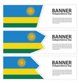 rwanda flag banners collection independence day vector image