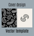 cover design with indian paisley pattern vector image