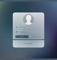 modern login form user interface design template vector image