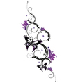 tribal flower butterfly tattoo style vector image vector image