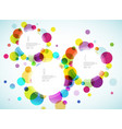 random colorful bubbles with place for your text vector image