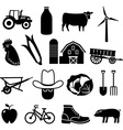 Farming and Agriculture Icons vector image