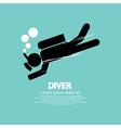 Diver vector image