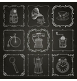 Vintage icons and frames vector image