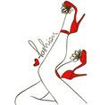 Female legs in high heels vector image