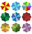 Multi colored beach umbrellas vector image