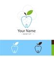sample logo for dental surgeries vector image