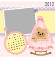 Babys monthly calendar for 2012 vector image