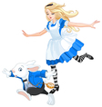 Alice Chasing After the Rabbit vector image