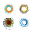 abstract color tornado vector image